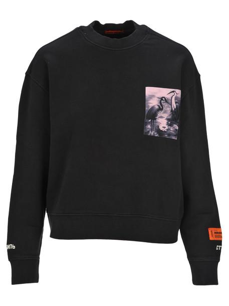 Heron Preston Heron Patch Sweatshirt in black / multi