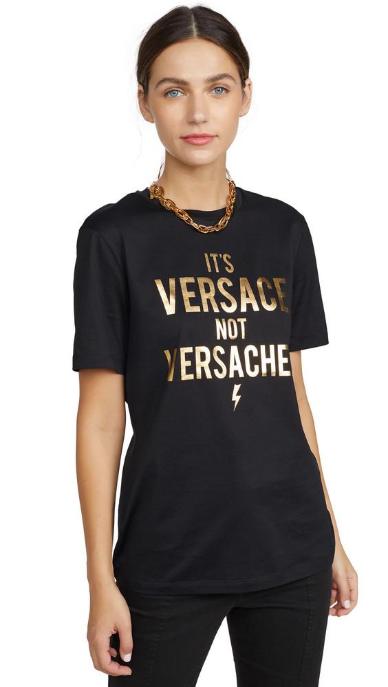 Versace Versace Logo T-Shirt in black