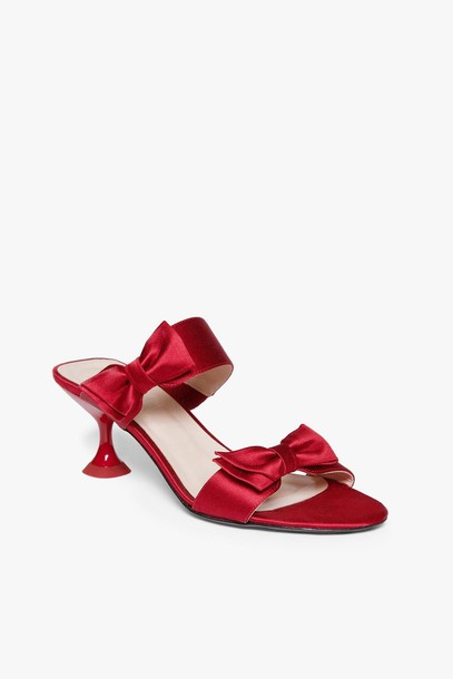 Staud BOWIE SANDAL | RED