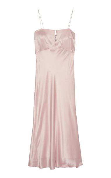 Bernadette Antwerp Florence Satin Silk Slip Dress Size: 34 in pink