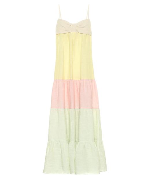 Lisa Marie Fernandez St Tropez linen-blend maxi dress in yellow