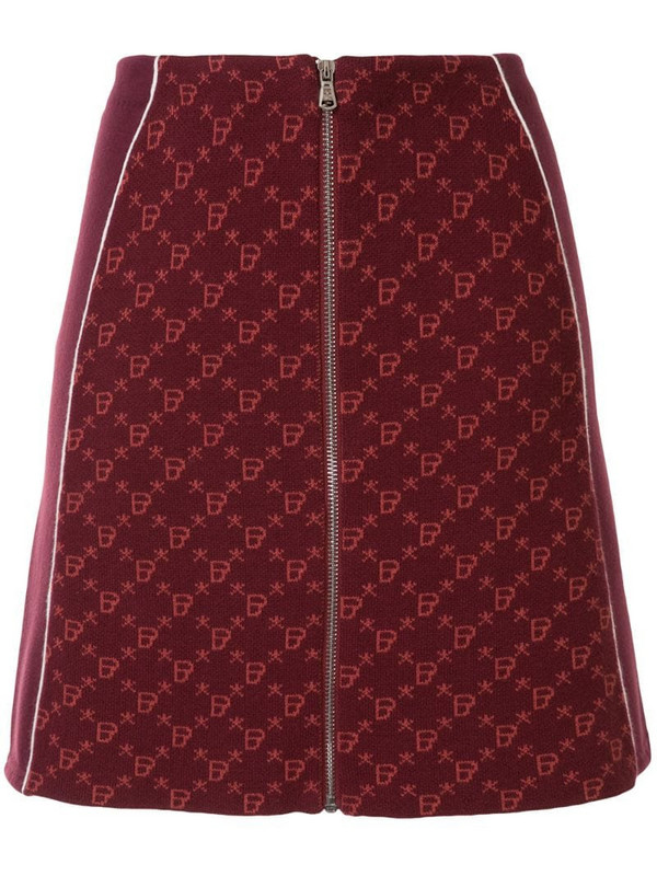 BAPY BY *A BATHING APE® knitted zipped skirt in red