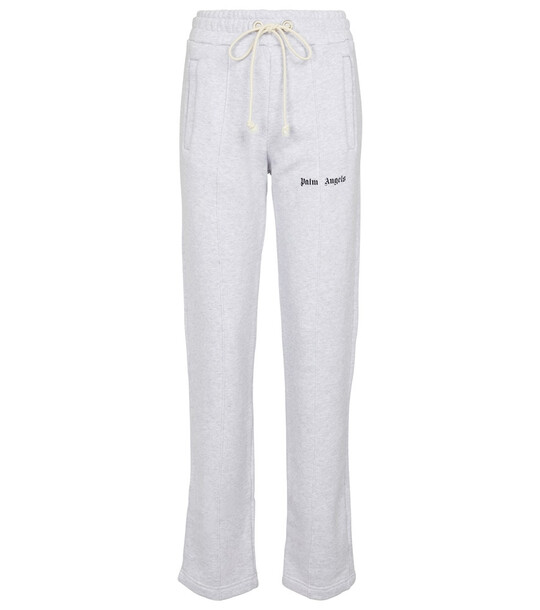 Palm Angels Cotton jersey sweatpants in grey