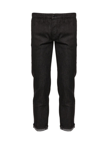 Pt05 Cropped Jeans in nero