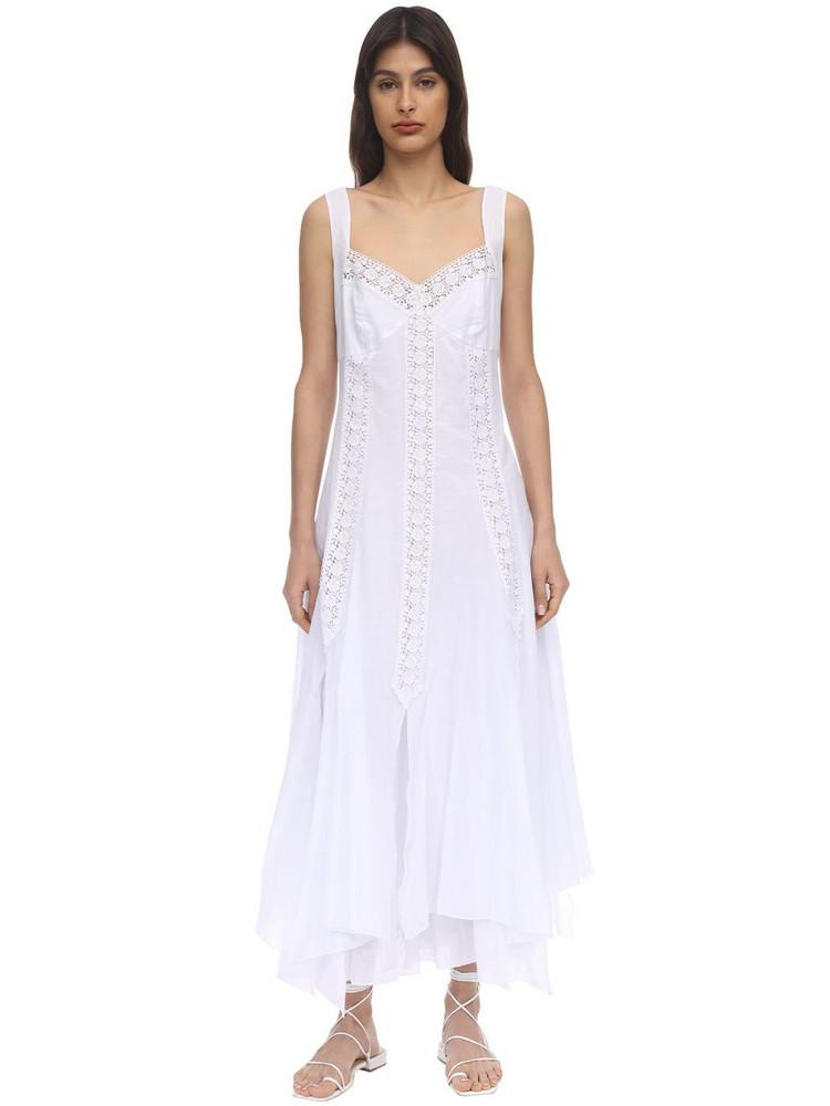 CHARO RUIZ Corazon Cotton Maxi Dress in white