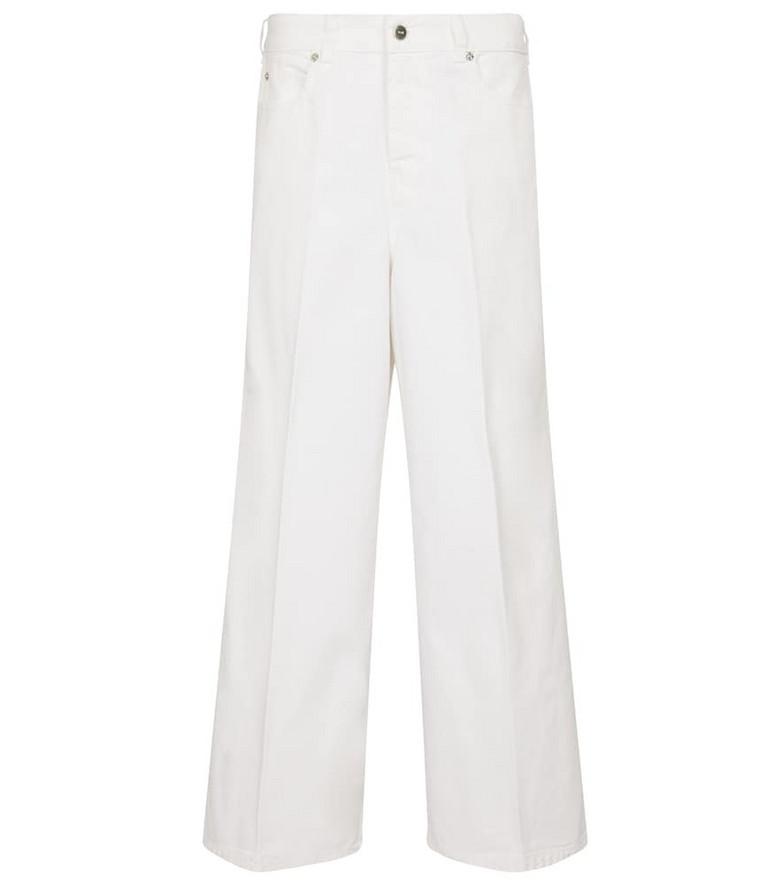 Victoria Victoria Beckham Portland high-rise wide-leg jeans in white