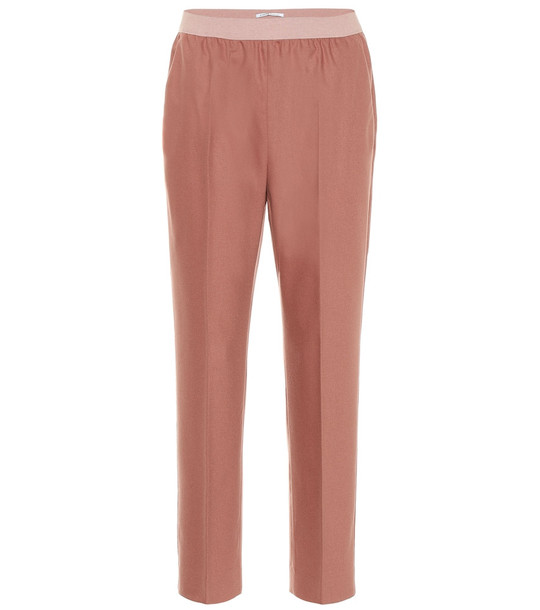 Agnona Wool and cashmere-blend pants in pink
