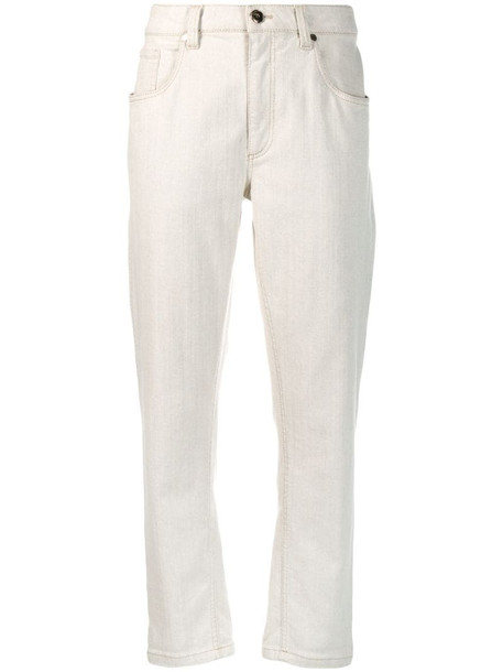 Brunello Cucinelli high waisted jeans in grey