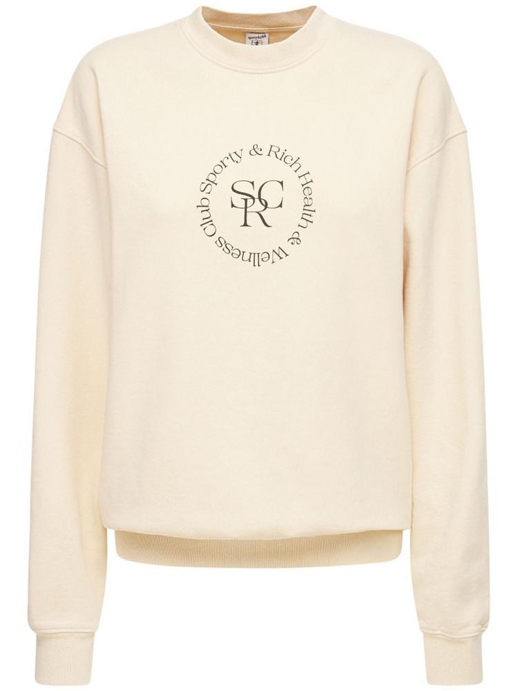 SPORTY & RICH Srhwc Crewneck Sweatshirt in beige