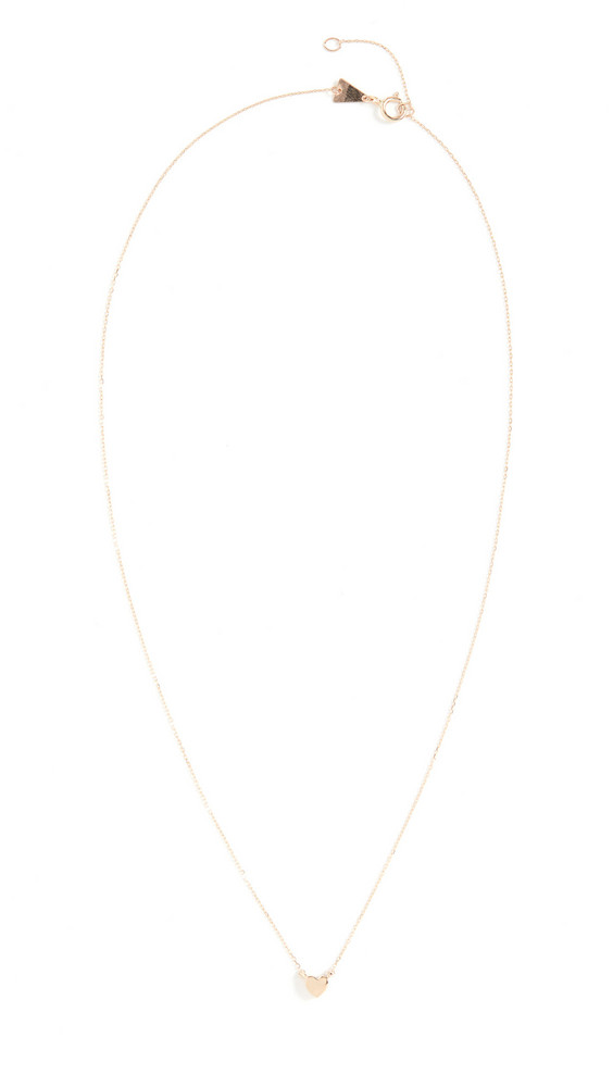 Adina Reyter 14k Super Tiny Puffy Heart Necklace in yellow