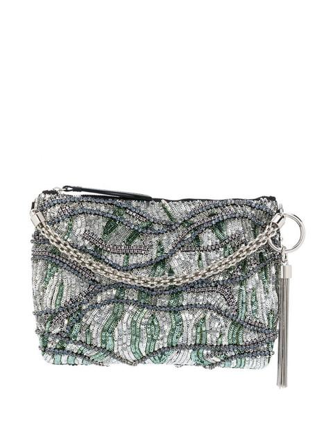 Jimmy Choo Callie clutch in silver