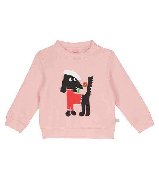 STELLA McCARTNEY Kids Baby Sissy Dog cotton sweatshirt in pink