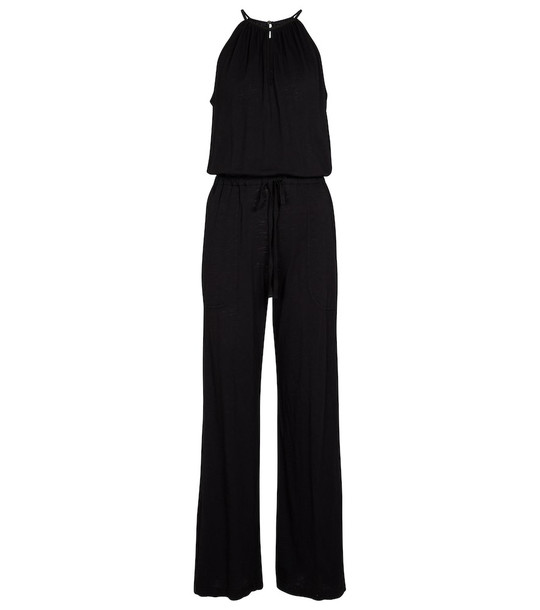 Velvet Laura cotton jumpsuit in black