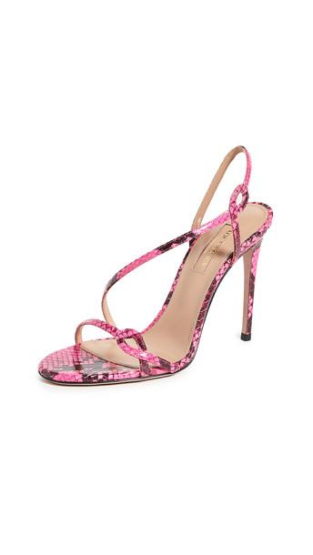 Aquazzura Serpentine Sandals 105mm in pink