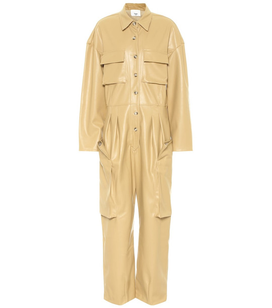 Frankie Shop Exclusive to Mytheresa – Linda faux leather jumpsuit in beige