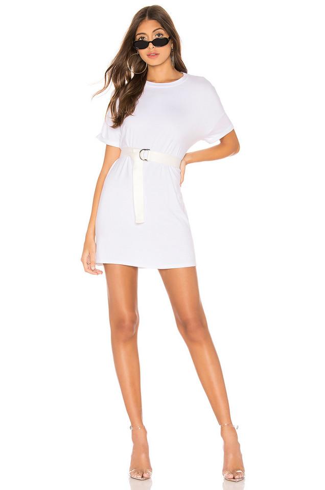 superdown Brystol Belted Jersey Dress in white
