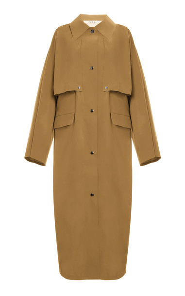 Kassl Coated-Cotton Trench Coat in neutral