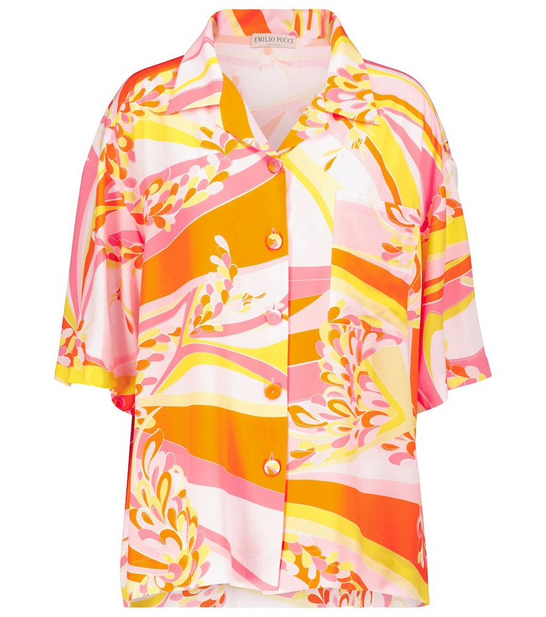 Emilio Pucci Beach Lilly printed shirt in pink
