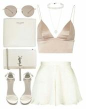 tank top,cream,satin,silk,white,classy,chic