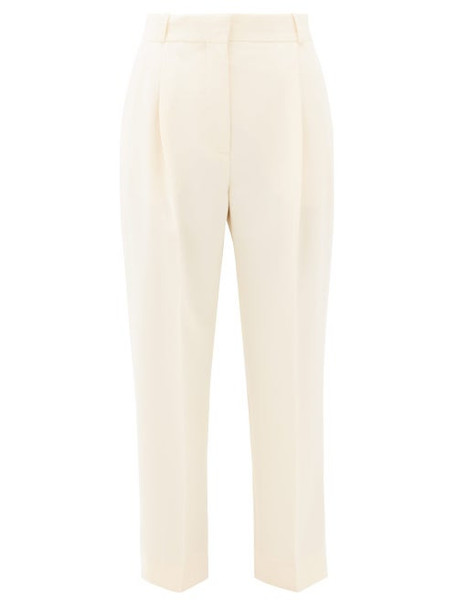 See By Chloé See By Chloé - High-rise Cropped Crepe Trousers - Womens - Ivory