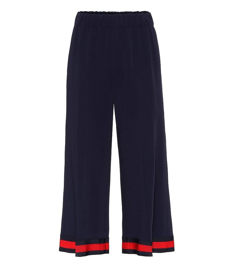 Gucci Stretch-cady culottes in blue
