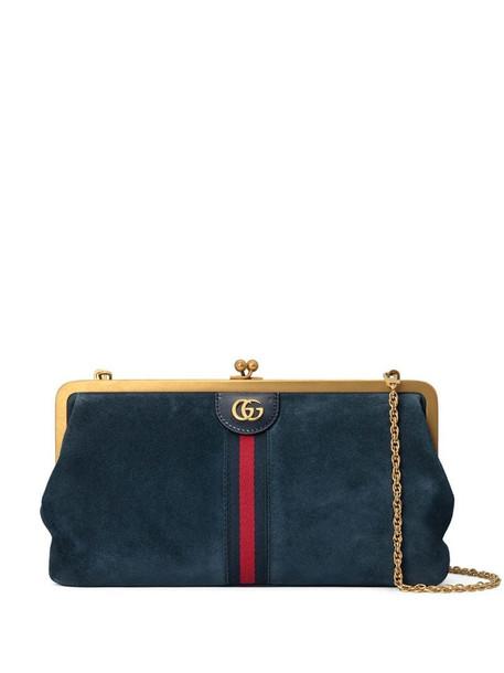 Gucci medium Ophidia Web shoulder bag in blue
