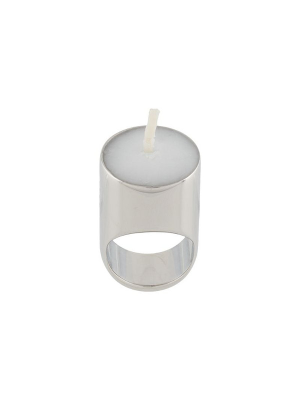d'heygere candle wick metal ring in silver