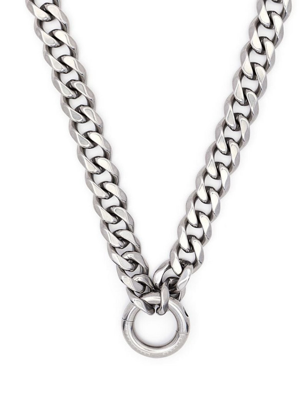 Random Identities chunky-chain necklace in silver