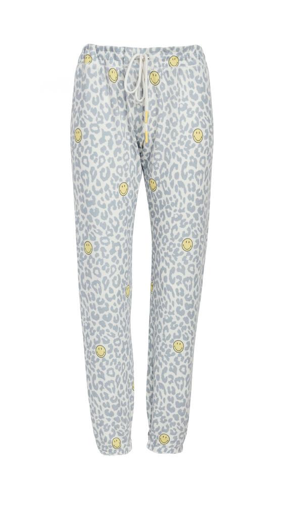 PJ Salvage Smiley Leopard Pants in ivory