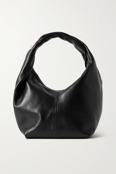 VALENTINO - Valentino Garavani Roman Stud Small Leather Shoulder Bag - Black