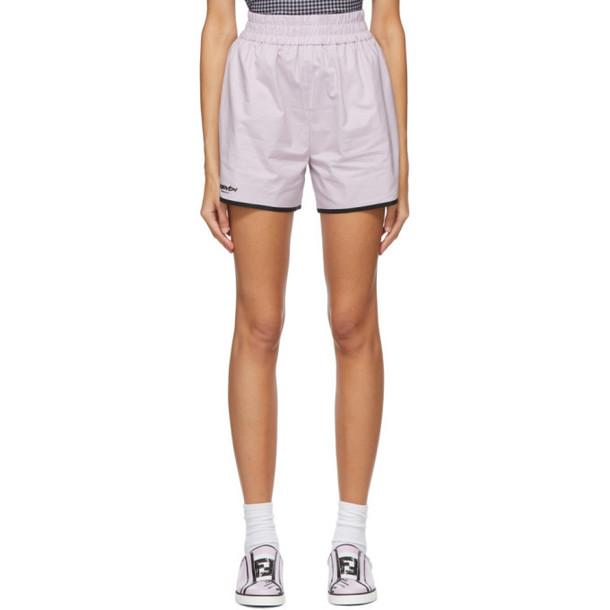 Fendi Pink Eco Popeline Shorts