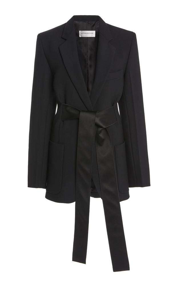 Victoria Beckham Satin-Trimmed Cady Tuxedo Jacket in black