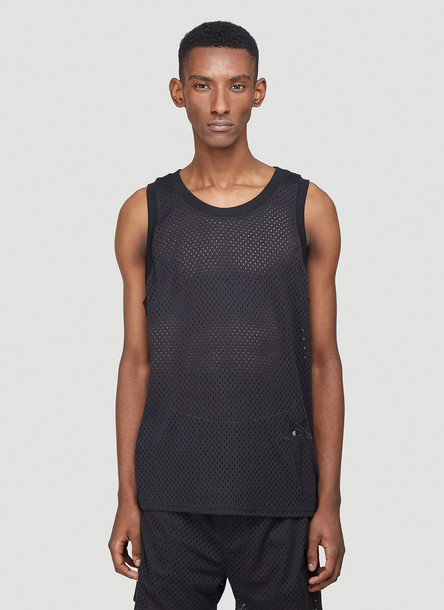 Rick Owens x Champion Perforated Tank Top in Black size S