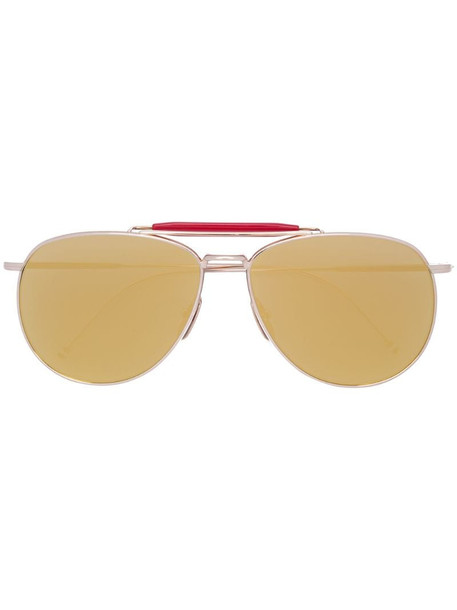 Thom Browne Eyewear aviator mirrored sunglasses in metallic