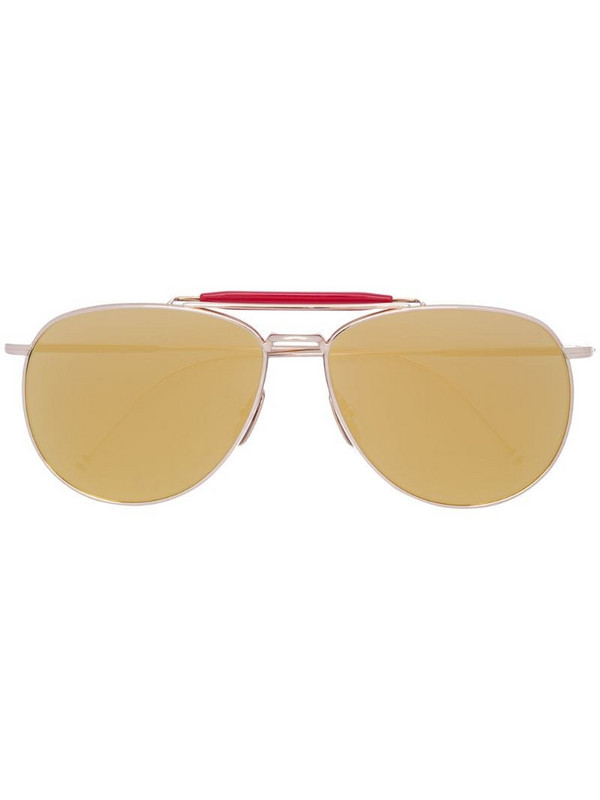Thom Browne Eyewear aviator mirrored sunglasses in metallic