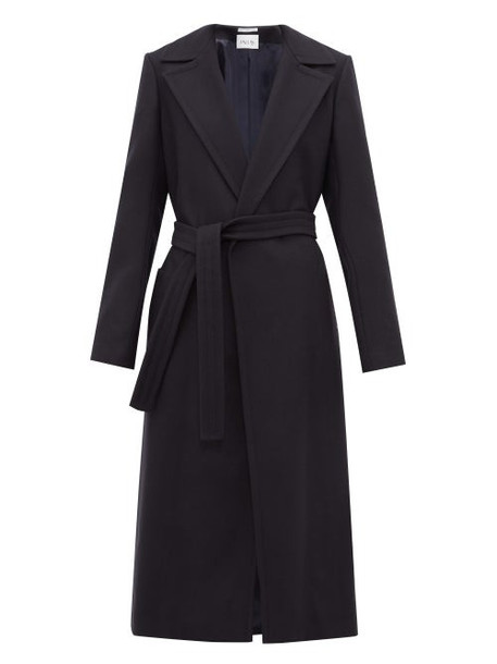 Pallas X Claire Thomson-jonville - Franklin Single Breasted Wool Blend Coat - Womens - Navy