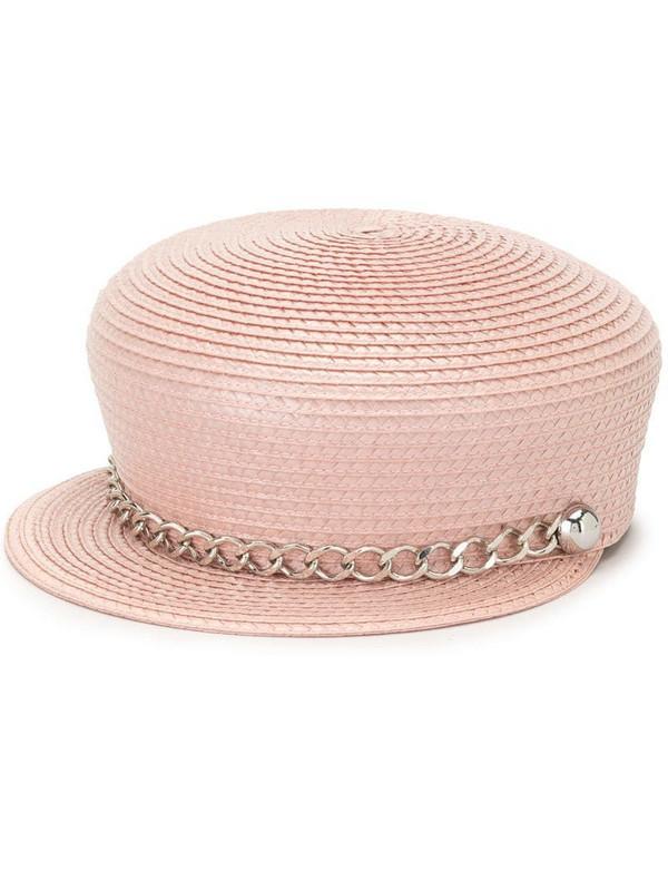 Eugenia Kim Sabrina chain-trim hat in pink