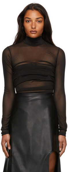 Markoo The Pleat Bodysuit in black