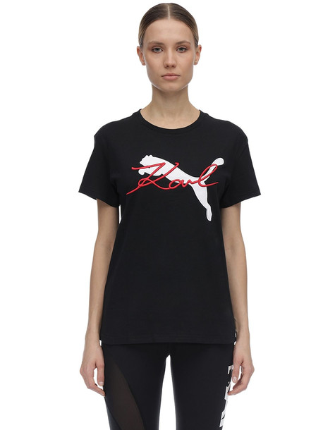 PUMA SELECT Karl Lagerfeld Cotton Jersey T-shirt in black