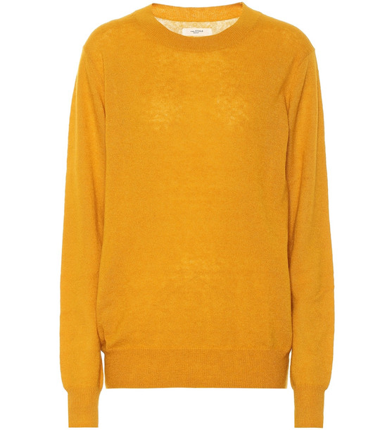 Isabel Marant, Étoile Blizzy alpaca and wool-blend sweater in yellow