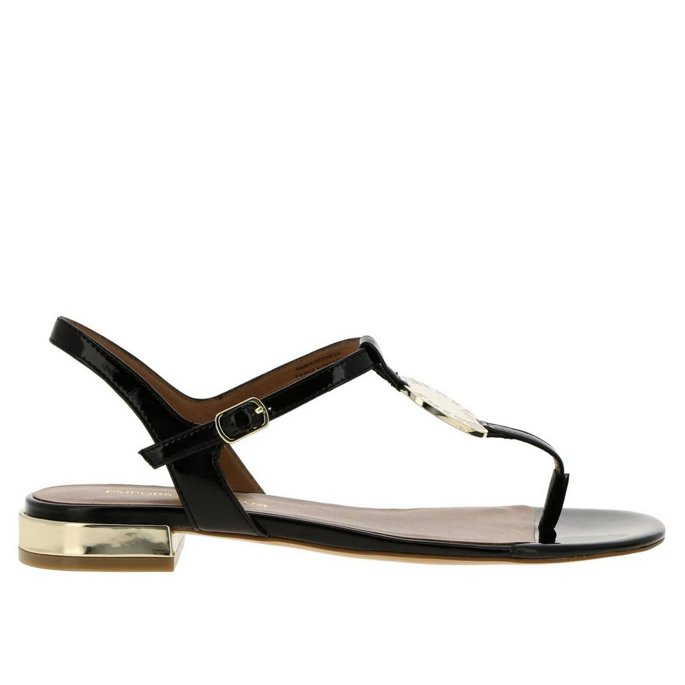 Emporio Armani Flat Sandals Shoes Women Emporio Armani in black