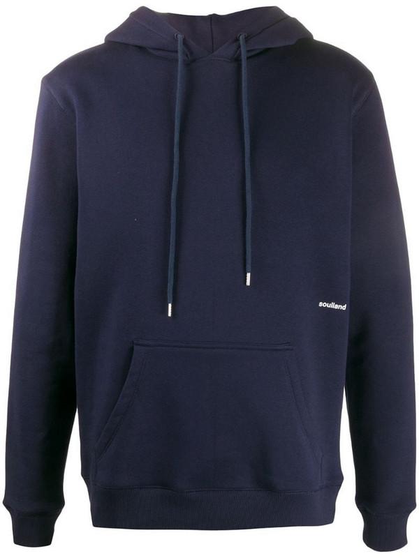Soulland Wallance unisex hoodie in blue
