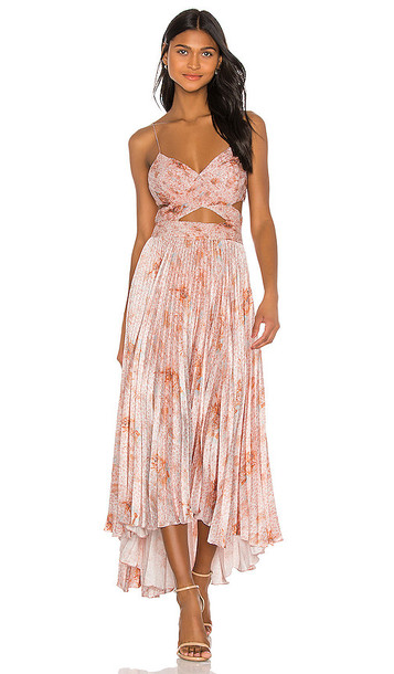 AMUR Lumi Dress in Pink