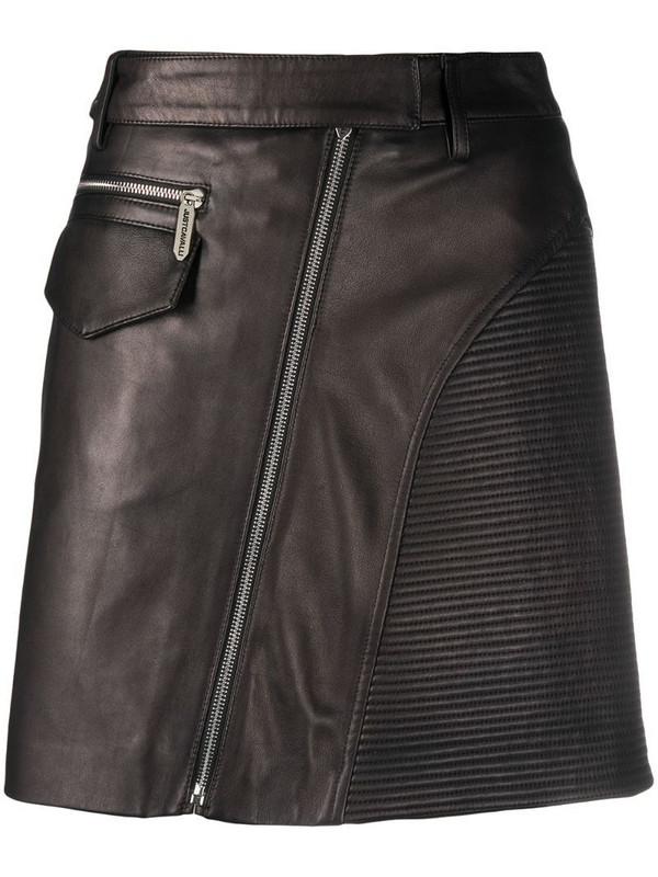 Just Cavalli high-waisted biker-style mini-skirt in black