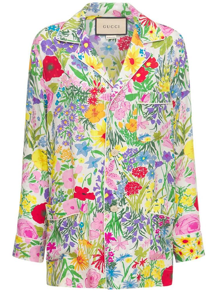 GUCCI Garden Printed Jacquard Pajama Shirt