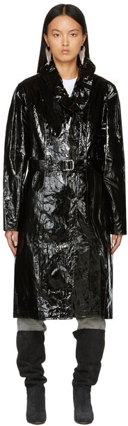 Isabel Marant Black Epanima Trench Coat