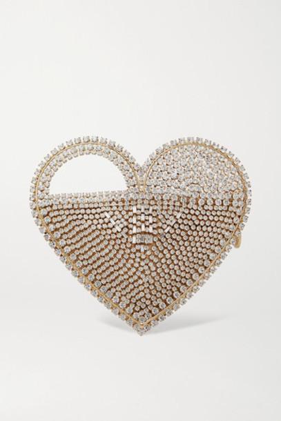 Rosantica - Regina Crystal-embellished Gold-tone Tote - Silver