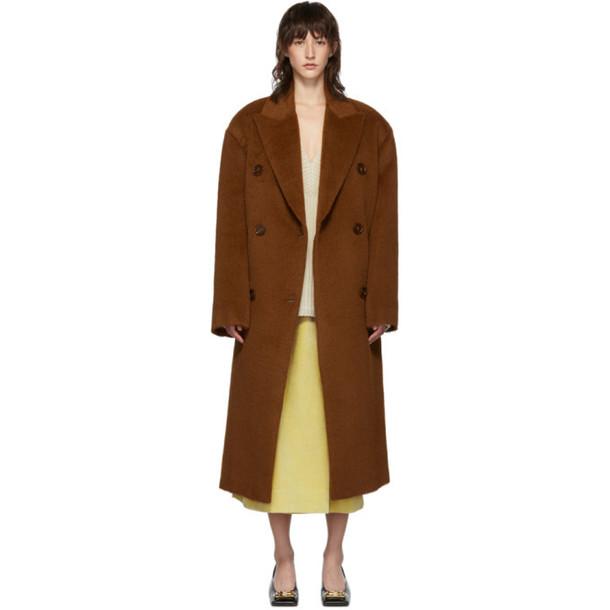 Acne Studios Brown Hairy Octania Coat