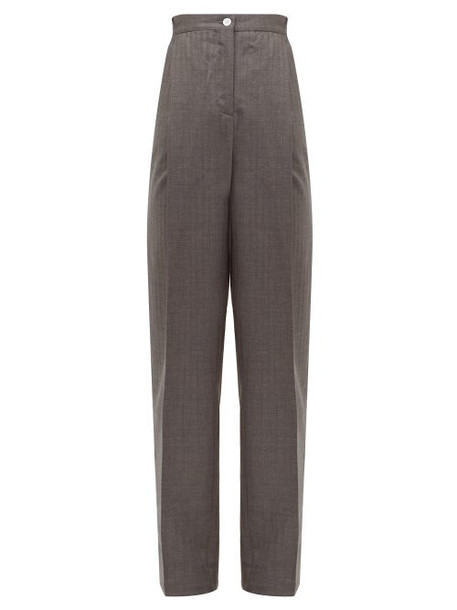 Acne Studios - Peggerine Striped Wool Jacquard Tapered Trousers - Womens - Grey