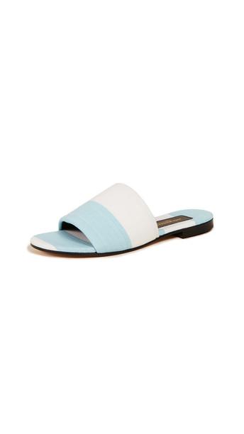 Avec Moderation Monaco Slide Sandals in blue
